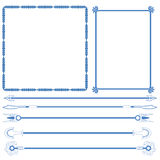 Vector of decorative frame and line. Vector set of decorative for frame and line Stock Image