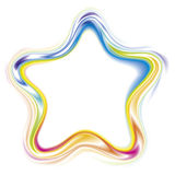 Vector decorative frame of a  rainbow stars Royalty Free Stock Images