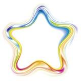 Vector decorative frame of a rainbow stars vector illustration
