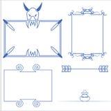 Vector of decorative frame. Vector set of decorative for frame vector illustration