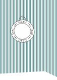 Vector decorative frame on stripes wall background Royalty Free Stock Photo