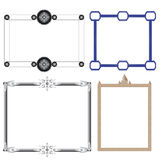 Vector of decorative frame toys and cog Stock Photo