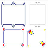Vector of decorative frame. Toys, windows, and metal Vector Illustration