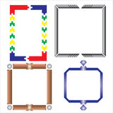 Vector of decorative frame toys. Wood Vector Illustration