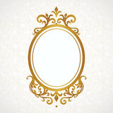 Vector decorative frame in Victorian style. Stock Photography