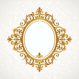 Vector decorative frame in Victorian style. Royalty Free Stock Image