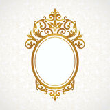 Vector decorative frame in Victorian style. Stock Image