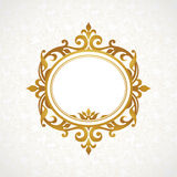 Vector decorative frame in Victorian style. Stock Images