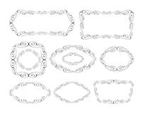 Vector decorative frames. Border design royalty free illustration