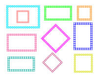 Vector decorative frames. Border design abstract art stock illustration
