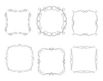 Vector decorative frames. Border design abstract background stock illustration