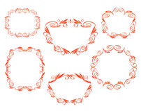 Vector decorative frames. Border design floral royalty free illustration