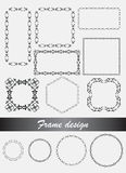 Vector Decorative frames and borders in different shape. Stock Images