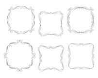 Vector decorative frames. Ector decorative frames border design with vector royalty free illustration
