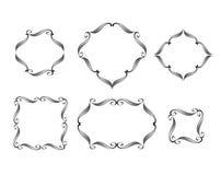 Vector decorative frames kaligraficheskih borde Stock Photo