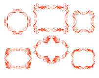 Vector decorative frames. Kaligraficheskih border design red royalty free illustration