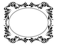 Vector decorative frames. Ornament floral black vector illustration