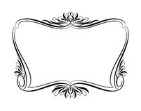 Vector decorative frames. Ornament floral black stock illustration