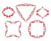 Vector decorative frames Stock Images