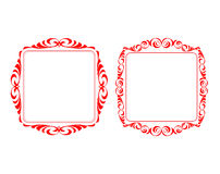 Vector decorative frames. Ornament floral border royalty free illustration