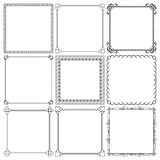 Vector decorative frames. Set of nice decorative frames for design vector Stock Photography