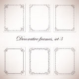 Vector decorative frames. Set of vintage decorative frames and borders Royalty Free Stock Photos