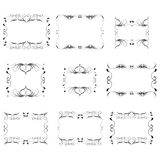 Vector decorative frames. The Vector of decorative frames Stock Images