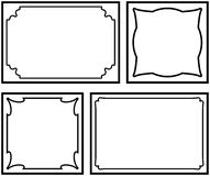 Vector decorative frames on white background Stock Images