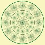 Vector decorative green pattern Royalty Free Stock Images