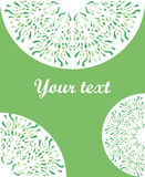 Vector decorative greeting card or invitation. On a green background Royalty Free Stock Images