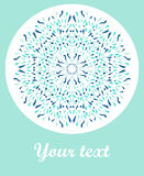 Vector decorative greeting card or invitation. On light blue background Stock Photos