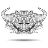 Vector Decorative Head of Demon Royalty Free Stock Images