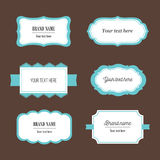 Vector decorative labels set for packaging, identity, logos, branding Stock Photos