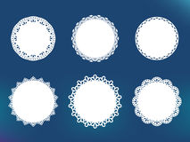 Vector decorative lace frames Royalty Free Stock Image