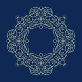 Vector decorative line art frame for design. royalty free illustration