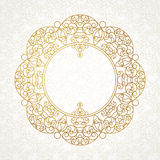 Vector decorative line art frame in Eastern style. Royalty Free Stock Images