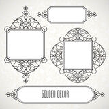 Vector decorative line art frames in Eastern style. Stock Image