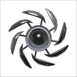 Vector of decorative metal. Rowel vector illustration