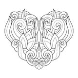 Vector Decorative Monochrome Abstract Heart Royalty Free Stock Photography