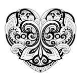 Vector Decorative Monochrome Abstract Heart Royalty Free Stock Photos