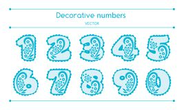 Vector Decorative Numbers Set Stock Photo