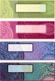 Vector decorative options horizontal backgrounds f Stock Photos
