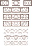 Vector decorative ornament Royalty Free Stock Images