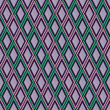 Vector decorative ornamental geometric background with rhombus in green and pink colors. Stock Image