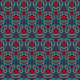 Vector decorative ornamental seamless pattern. Abstract vector tribal ethnic background seamless pattern Stock Photo