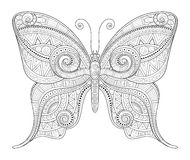Vector Decorative Ornate Butterfly Stock Photos