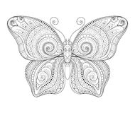 Vector Decorative Ornate Butterfly Stock Photography