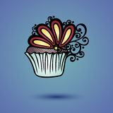 Vector Decorative Ornate Cake Stock Images