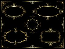 Vector decorative ornate frames Royalty Free Stock Photos