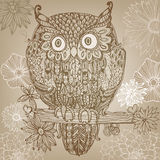 Vector decorative owl Royalty Free Stock Photo